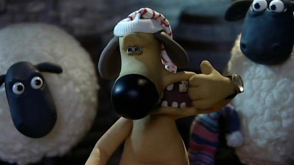 Oh weh! Bitzer hat schreckliche Zahnschmerzen und kann nicht schlafen. | Rechte: WDR/Aardman Animation Ltd./BBC