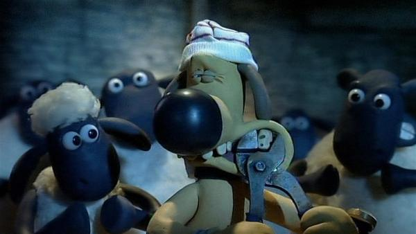 Bitzers Zahn muss raus! Ganz schön mutig, er versucht ihn ohne Hilfe zu ziehen. | Rechte: WDR/Aardman Animation Ltd./BBC