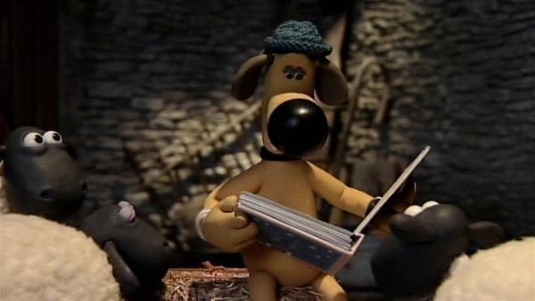 Bitzer liest den Schafen eine Geschichte vor. So ruhig diese Nacht beginnt, wird sie aber nicht bleiben.   Rechte: WDR/Aardman Animation Ltd./BBC