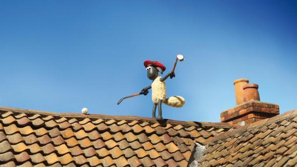 Shaun versucht sich als Crossgolfer. Kein Ort ist vor Shauns Bällen sicher. | Rechte: WDR/Aardman Animations Ltd