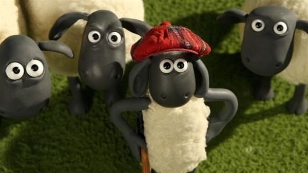 Der Golfball ist außer Rand und Band. Shaun muss ihn wieder finden. | Rechte: WDR/Aardman Animation Ltd./BBC