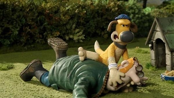 Überwältigt! Was hat Bitzer mit dem Farmer vor? | Rechte: WDR/Aardman Animation Ltd./BBC
