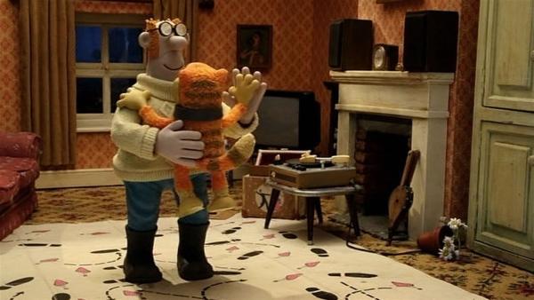 Der Farmer und Pidsley wagen ein Tänzchen. | Rechte: WDR/Aardman Animation Ltd./BBC