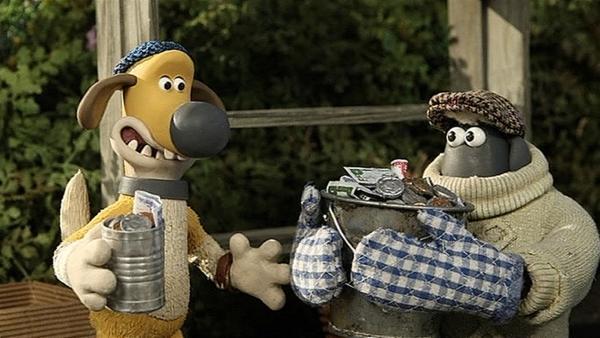 Feierabend! Shaun und Bitzer waren erfolgreiche Verkäufer.   Rechte: WDR/Aardman Animation Ltd./BBC