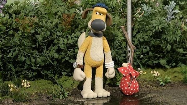 Bitzer, der Wachhund ohne Hundehütte, will die Farm verlassen.   Rechte: WDR/Aardman Animation Ltd./BBC