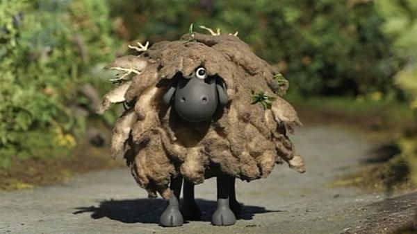 Wer verbirgt sich hinter diesem schmutzigen Schaf? Shaun darf gespannt sein.   Rechte: WDR/Aardman Animation Ltd./BBC