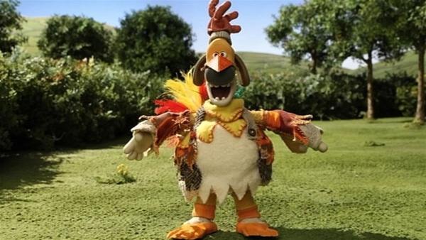 Ein komischer Vogel hat sich auf der Farm eingefunden. Woher der wohl kommt? | Rechte: WDR/Aardman Animation Ltd./BBC