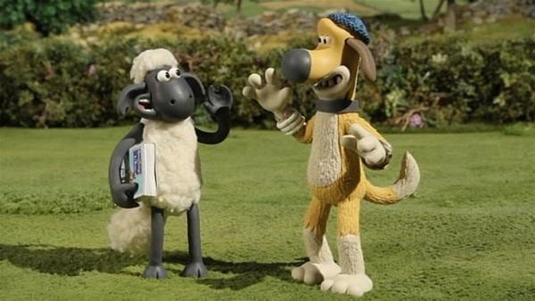 Geschafft! Gemeinsam sind Shaun und Bitzer nicht zu besiegen. | Rechte: WDR/Aardman Animation Ltd./BBC