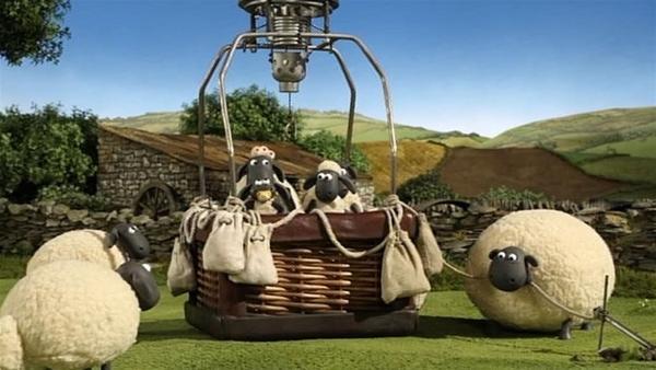 Die Leine durchgebissen, dann geht's ab - hoch in die Luft hinein. | Rechte: WDR/Aardman Animation Ltd./BBC