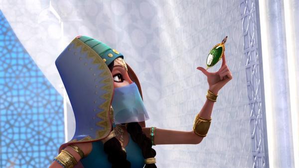 Prinzessin Jinan: Die Hüterin der wertvollen Nekromantischen Navigationsnadel.  | Rechte: rbb/Hahn Film AG/Chocolate Liberation Front Pty Ltd/Toonz Entertainment Pte Ltd