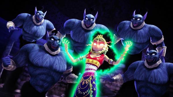Dunyazad wähnt sich am Zenit ihrer Macht. Sie hat es geschafft, die Mächte des Bösen zu befreien um mit ihrer Hilfe über die Welt zu herrschen.  | Rechte: rbb/Hahn Film AG/Chocolate Liberation Front Pty Ltd/Toonz Entertainment Pte Ltd