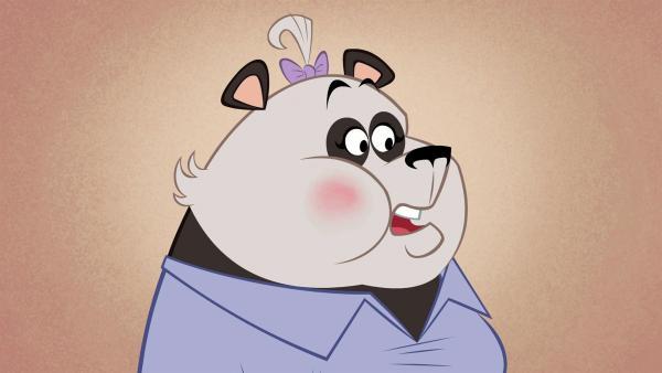 Frau Panda scheint es nicht zu stören, dass ihr Restaurant vorübergehend schließen muss.   Rechte: ZDF/Mondo tv