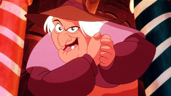 Die berühmte Hexe in ihrem Lebkuchenhaus hat nämlich eine ganz besondere Vorliebe für den armen Hänsel. | Rechte: NDR/Greenlight Media AG