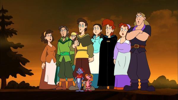 Schaffen die Brüder es, die Prinzessin aus den Klauen des Drachens zu befreien? | Rechte: NDR/Greenlight Media AG