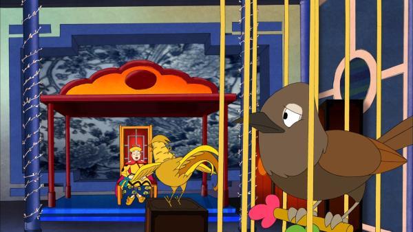 Die Nachtigall wird durch einen mechanischen Vogel ersetzt.   Rechte: NDR/Greenlight Media AG
