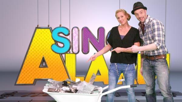 Singa und ihr Studiogast Alex Huth | Rechte: ZDF/Rico Rossival