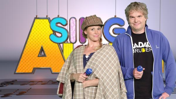 Moderatorin Singa mit ihrem Studiogast Arne von der Band Radau! | Rechte: ZDF/Rico Rossival