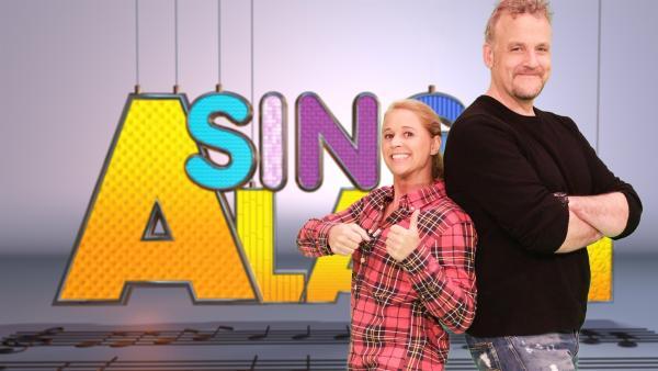 Singa und der Studiogast Dän von den Wise Guys | Rechte: ZDF/Rico Rossival