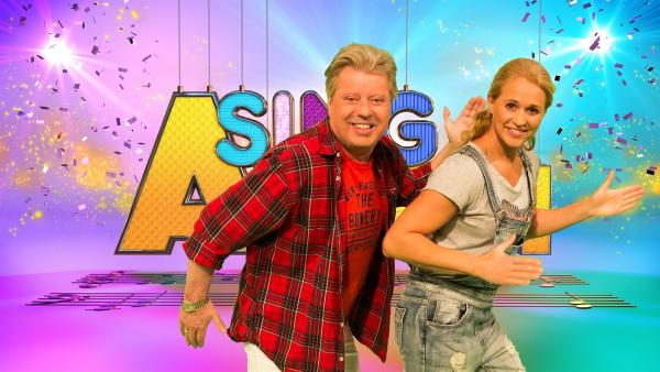 Singa und Studiogast Volker Rosin | Rechte: ZDF/Firma MES GmbH