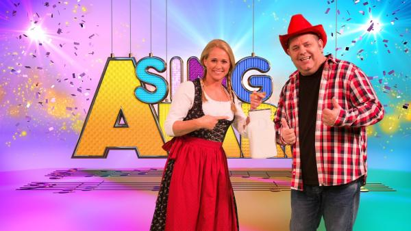 Singa und Marcus Becker als Studiogast | Rechte: ZDF/Firma MES GmbH