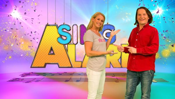 Singa und Detlev Jöcker als Studiogast | Rechte: ZDF/Firma MES GmbH