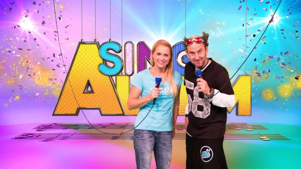 Singa und Studiogast Tom Lehel | Rechte: ZDF/Firma MES GmbH