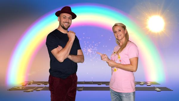Bei SingAlarm dreht sich alles um Friedenssongs. Moderatorin Singa hat Max Mutzke zu Gast. | Rechte: ZDF/MES GmbH Wiesbaden