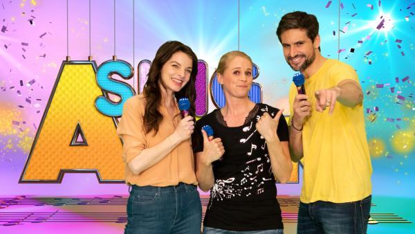 SingAlarm: Singa mit Yvonne Catterfeld und Tom beck im Studio | Rechte: ZDF/MES