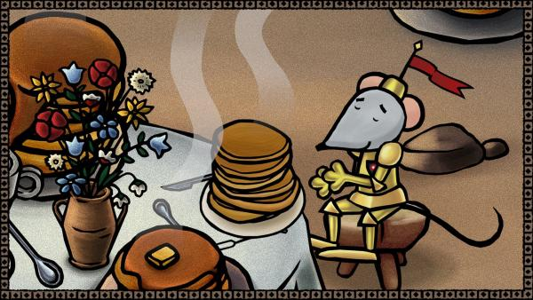 Seit sie die goldene Rüstung trägt, lässt sich Sir Mouse nur noch bedienen. | Rechte: SWR/scopas medien AG