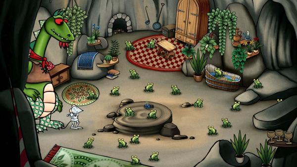 Bei Dragon und Mouse ist alles voller Frösche.   Rechte: SWR/scopas medien AG