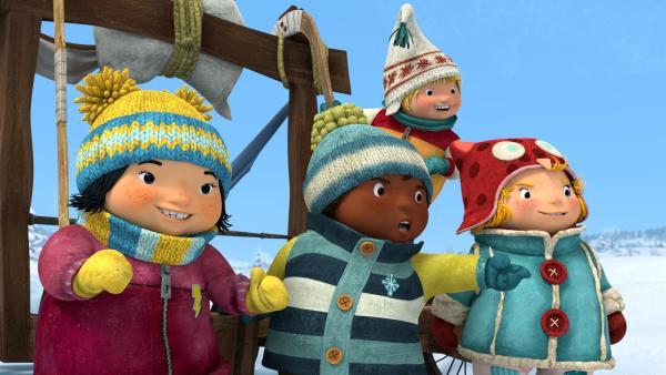 Kiki, Jonas, Sami und Nele haben immer neue Spiele in Aussicht. | Rechte: KiKA/carpediem Film & TV Inc.