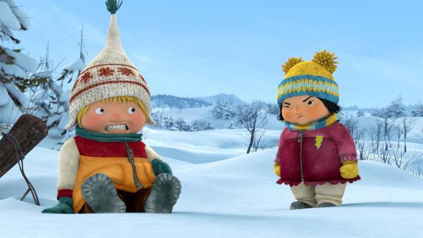 Kiki spürt, dass Sami etwas im Schilde führt. | Rechte: KiKA/carpediem Film & TV Inc.