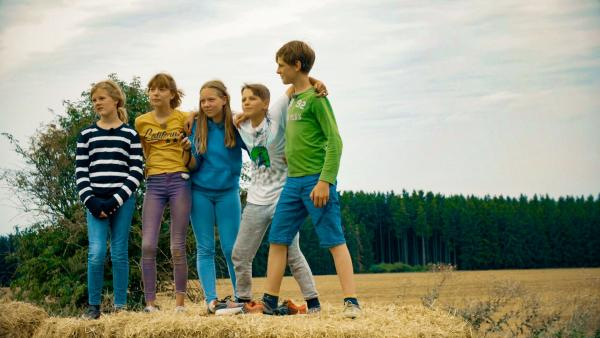 Beste Freunde! Aber warum fiebern hier Matilda, Käthe, Mayra, Alvin und Jona gemeinsam?   Rechte: MDR/Cine Impuls Leipzig