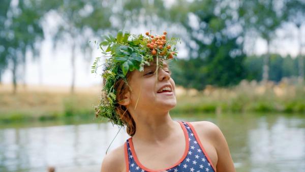 Wird Carlotta Gewinnerin beim Badewannenrennen? | Rechte: MDR/Cine Impuls Leipzig