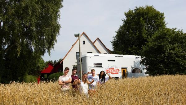 Franz, Yusuf, Lynn, Benjamin, Eyleen in Burgdorf | Rechte: ZDF/Felix Kost