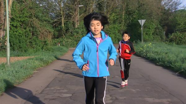 Natsuki trainiert jeden Tag hart, mit japanischer Tradition und Disziplin.   Rechte: ZDF/EBU