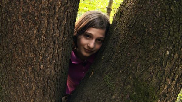 Yael liebt die großen, alten Bäume in ihrem Wäldchen.   Rechte: ZDF/Ilona Stämpli
