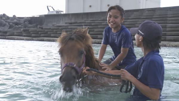 Uruné lebt auf der kleinen japanischen Insel Yonaguni-Jima und dort gibt es noch wilde Ponys. Nichts hätte sie lieber als ein eigenes Pony bei sich zuhause. | Rechte: ZDF/Jin Harada