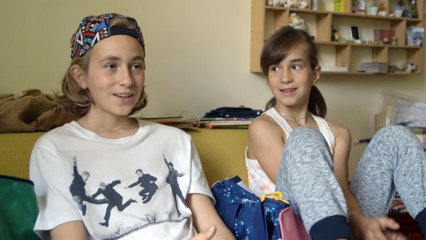 Dascha und Rocco sind nicht nur Geschwister, sondern haben auch ein gemeinsames Hobby: Breakdance. | Rechte: ZDF/Tobias Tempel