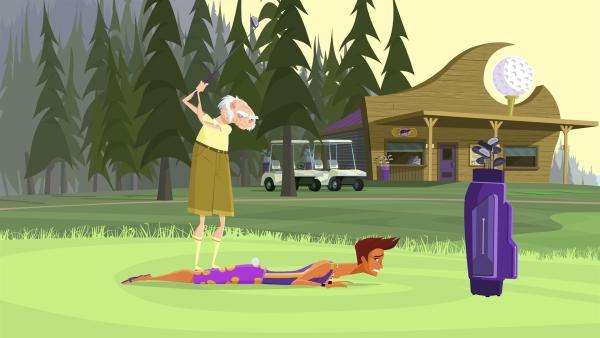 Los Vater ärgert sich immer mehr über die Freundschaft seiner Tochter mit dem vermeintlichen Surf-Proll Reef. | Rechte: KiKA/Fresh TV/Cake Entertainment