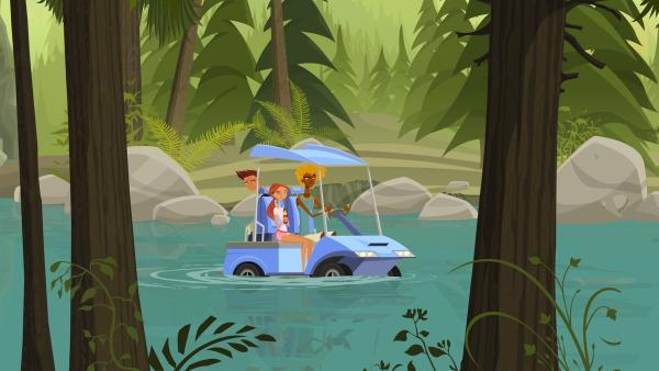 Irgendwie sind Reef, Emma und Broseph vom Weg abgekommen. | Rechte: KiKA/FreshTV/Cake Entertainment
