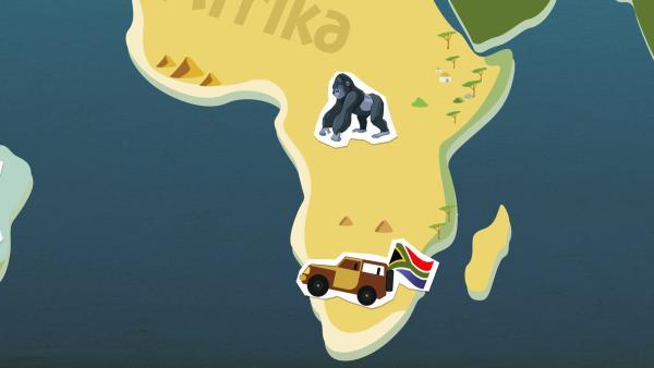 grafische Darstellung von Afrika | Rechte: KiKA