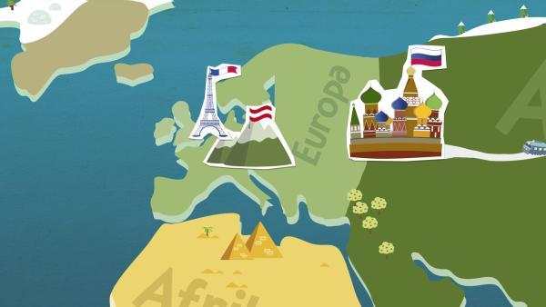grafische Darstellung von Europa | Rechte: KiKA