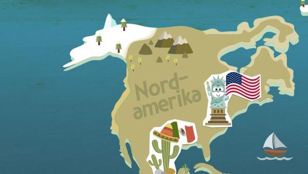 grafische Darstellung von Nordamerika | Rechte: KiKA