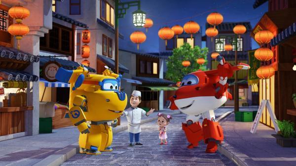 Donnie und Jett haben Mei und ihrem Vater sehr geholfen. | Rechte: KiKA/FunnyFlux/QianQi/EBS/CJ E&M