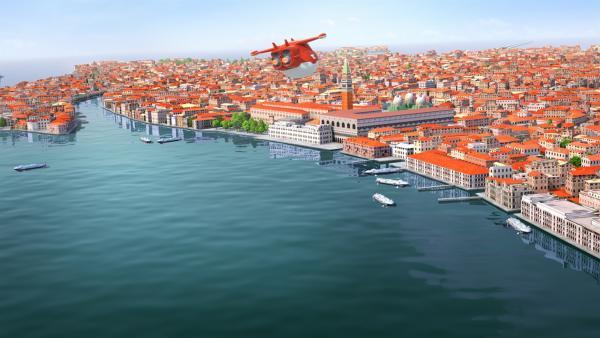 Jett ist im Anflug auf Venedig. | Rechte: KiKA/FunnyFlux/QianQi/EBS/CJ E&M