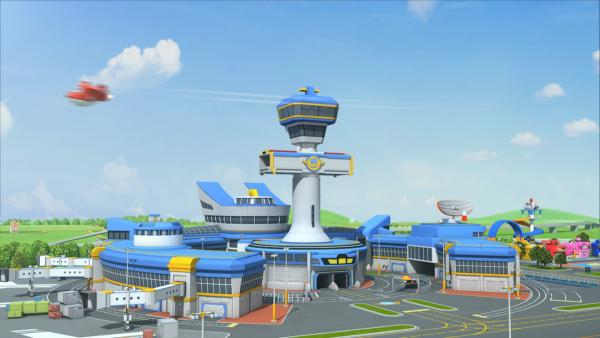 Jett verlässt den Flughafen in Richtung Hawaii. | Rechte: KiKA/FunnyFlux/QianQi/EBS/CJ E&M