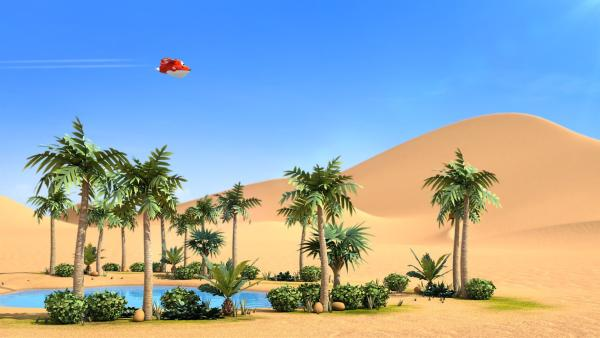Jett beim Flug über die Sahara | Rechte: KiKA/FunnyFlux/QianQi/EBS/CJ E&M