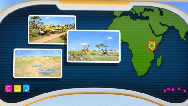 Jetts Ziel ist diesmal Kenia. | Rechte: KiKA/FunnyFlux/QianQi/EBS/CJ E&M