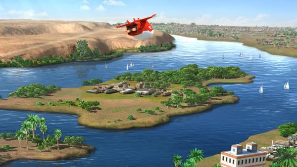 Jett macht sich auf den Weg nach Ägypten. | Rechte: KiKA/FunnyFlux/QianQi/EBS/CJ E&M